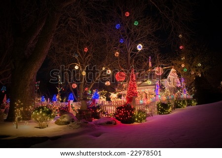 christmas decoration for outdoors - stock photo