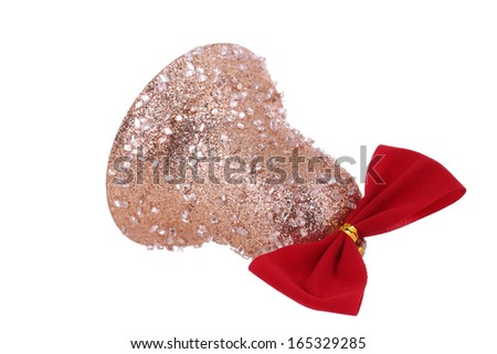 Christmas decoration for tree. Isolated on white background. - stock photo