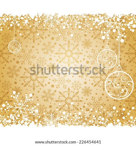 Christmas decoration frame. Snowflake Abstract Background. Christmas borders
