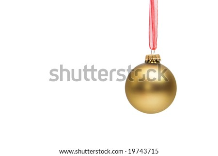 christmas decoration - glass balls isolated on white