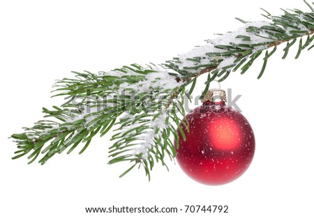 Christmas Decoration - isolated on a white background - stock photo