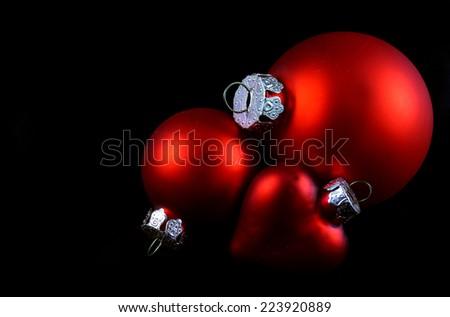 Christmas Decoration isolated on black - stock photo