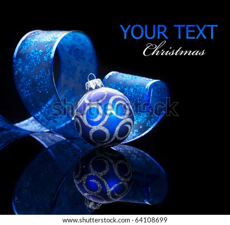 Christmas Decoration isolated on black - stock photo