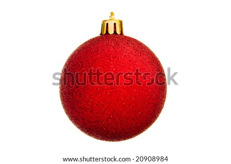 Christmas decoration isolated on the tree. New year. Xmas. - stock photo