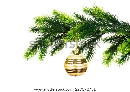 Christmas decoration isolated on the white - stock photo