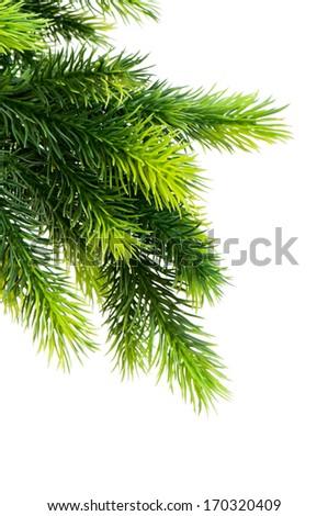 Christmas decoration isolated on the white background - stock photo