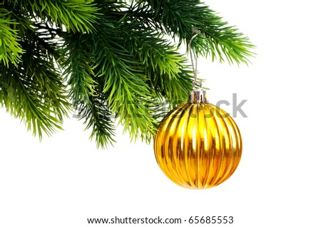 Christmas decoration isolated on the white background - stock photo