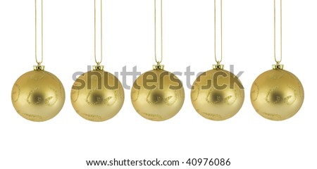 Christmas decoration isolated on white - stock photo