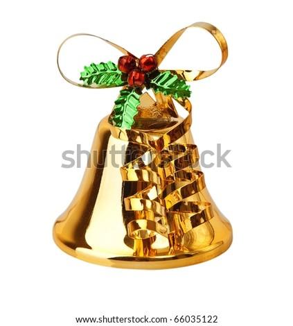 Christmas decoration isolated on white. - stock photo