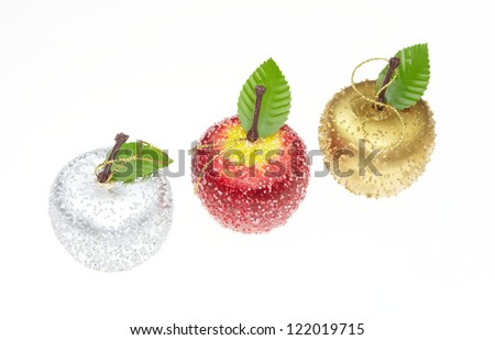 Christmas decoration. Isolated on white background - stock photo
