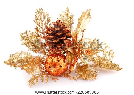 Christmas decoration isolated on white background. - stock photo