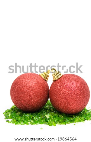 christmas decoration isolated on white. space for text.