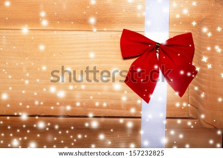 Christmas decoration on a piece of wood studio shooting