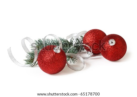 christmas decoration on a white background - stock photo