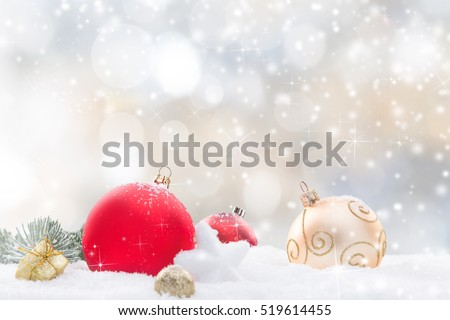 Christmas decoration on abstract background, close-up.