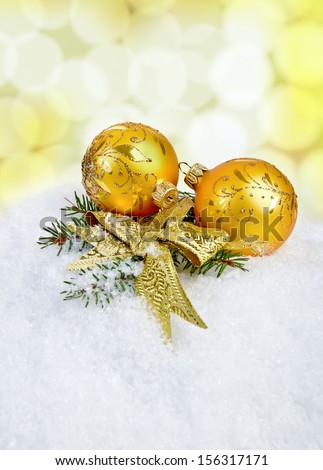Christmas decoration on abstract bokeh background