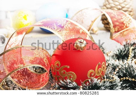 Christmas decoration  on Christmas background