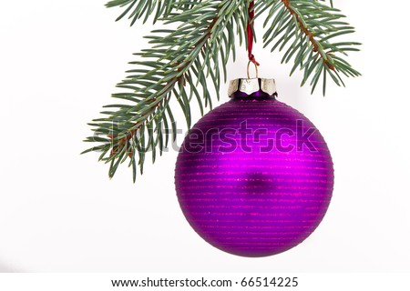Christmas decoration on Christmas tree - stock photo