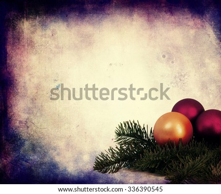 Christmas Decoration On The Beautiful Vintage Background - stock photo