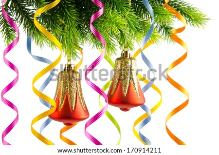 Christmas decoration on the white - stock photo