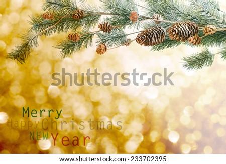 Christmas decoration on  vintage background - stock photo