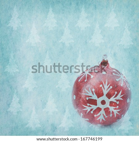Christmas decoration on Vintage christmas background - stock photo