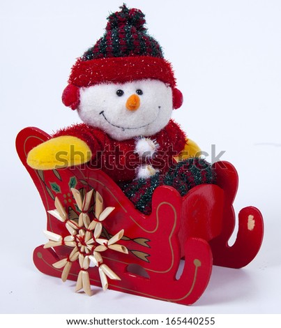 Christmas decoration on whight background - stock photo
