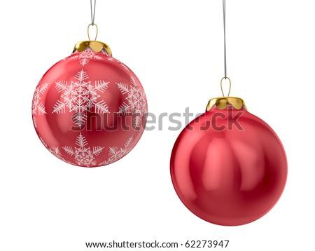 Christmas decoration on white background. Isolated 3D image - stock photo