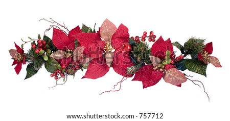 Christmas Decoration - Poinsettia - stock photo