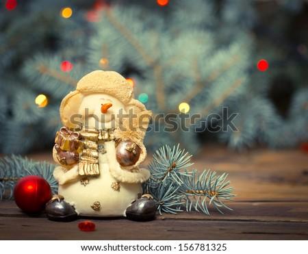 Christmas decoration - snowman  - stock photo