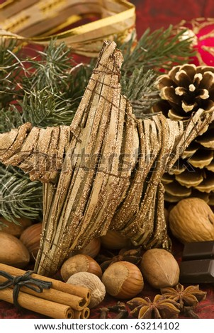 Christmas Decoration with a Star - stock photo
