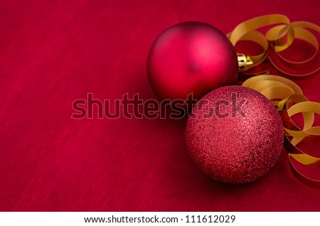 christmas decoration with christmas ornaments - stock photo