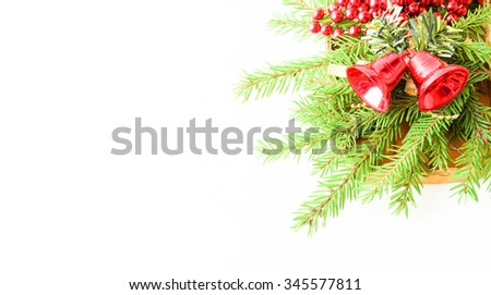 Christmas decoration with Christmas tree -FRAME