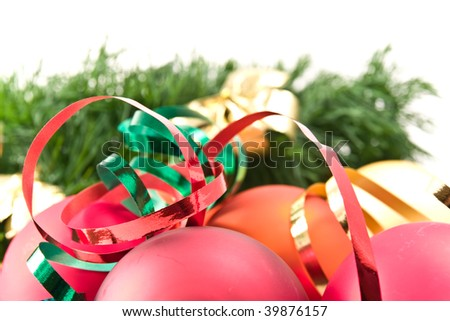 christmas decoration with green garland