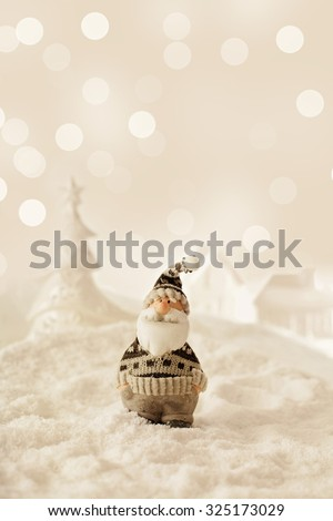 Christmas decoration with Santa Claus - stock photo