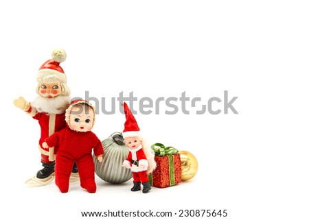 Christmas/decoration with Santa Claus and dolls