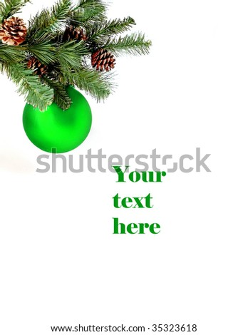 Christmas decoration with space for text - stock photo