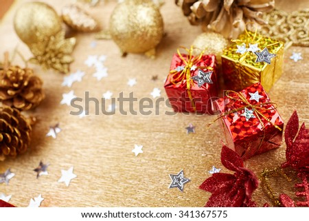 Christmas decorations background