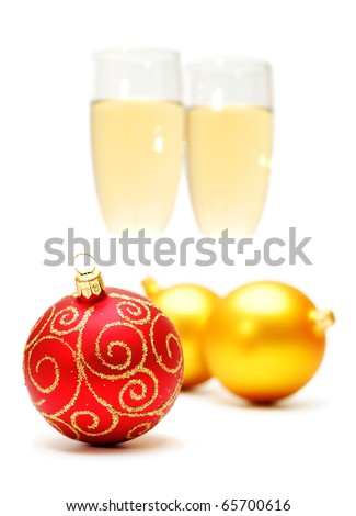 christmas decorations (background out of focus) - stock photo