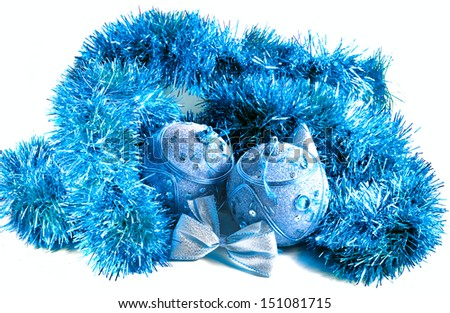 Christmas decorations - balls on a white background