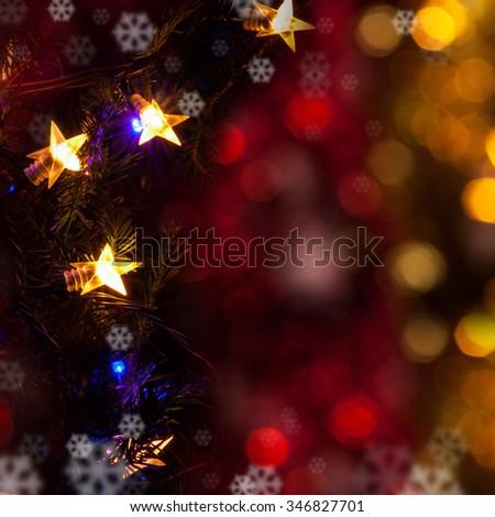 Christmas decorations Christmas lights - stock photo