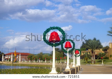 Christmas Decorations in Florida - stock photo