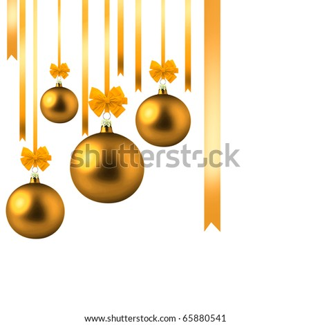 Christmas decorations in the form of beads on a white background. - stock photo