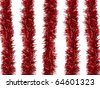 Christmas decorations isolated against a white background - stock photo