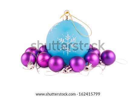 Christmas decorations isolated on a white background