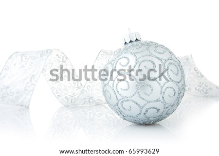 Christmas decorations isolated on the white background - stock photo