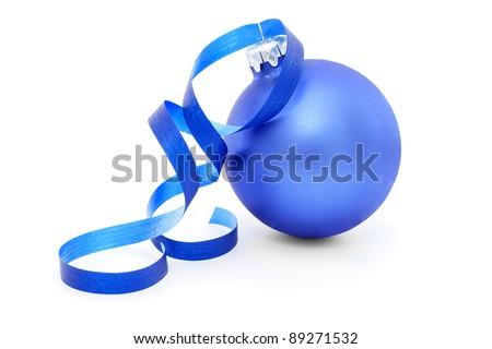 Christmas decorations - isolated on white - stock photo