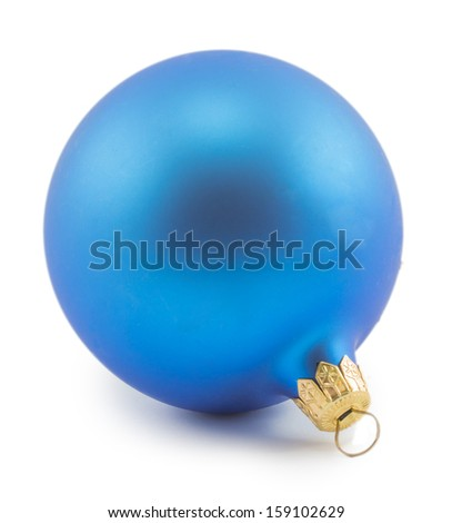 Christmas decorations isolated on white background - stock photo
