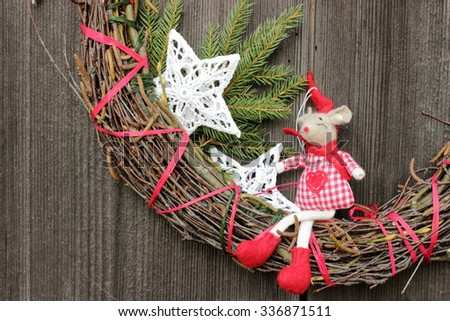 Christmas decorations, natural materials,ethnic style