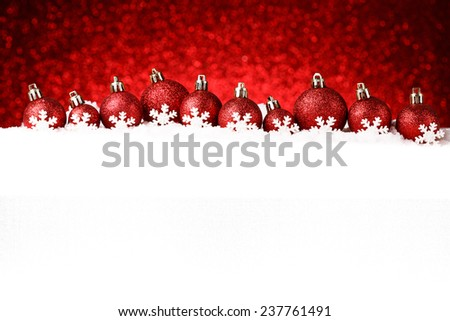 Christmas decorations on sparkling background. studio shot - stock photo